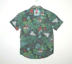 Mambo-Loud-Shirt-Short-Sleeve-Button-Up-Graphic-Print-Size-Small