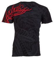 Archaic AFFLICTION Mens T-Shirt DRAGON RAGE Tattoo BLACK Fight Biker MMA UFC $40