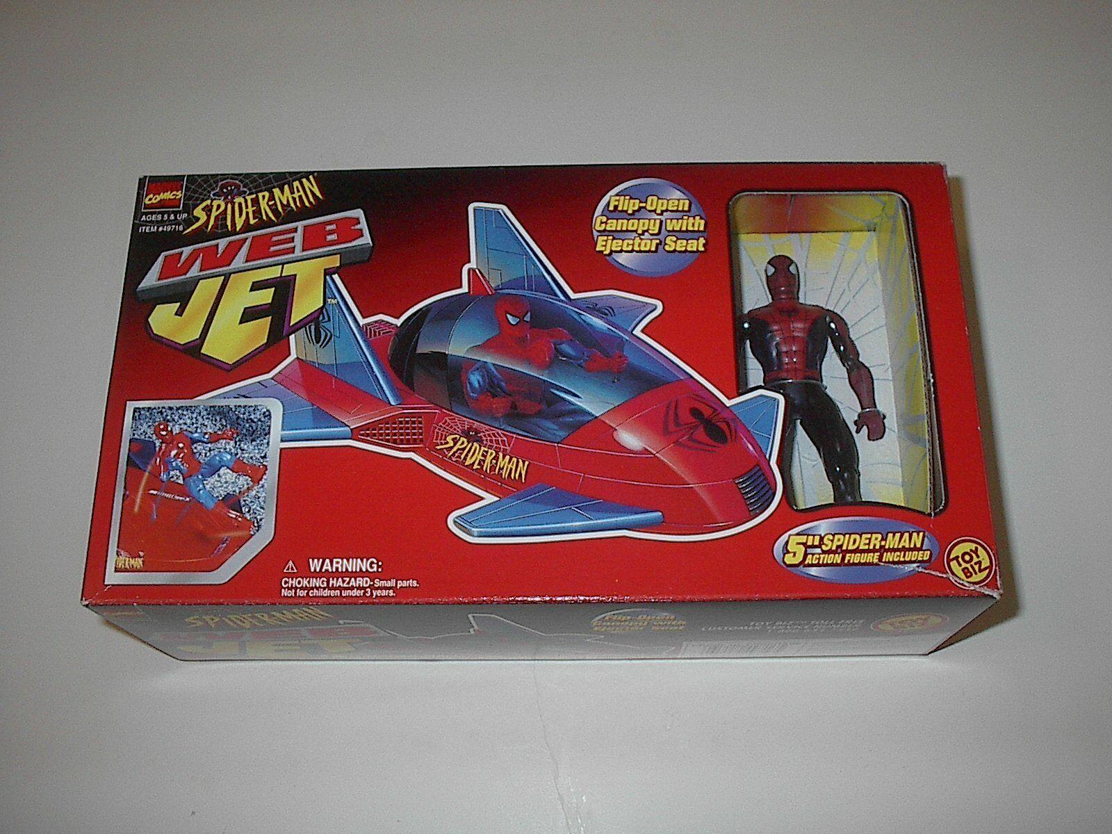 TOYBIZ MARVEL Spiderhomme Web jet avec Flip Couvert  intermittent et Siège Éjecteur 1997 nouveau  acheter en ligne