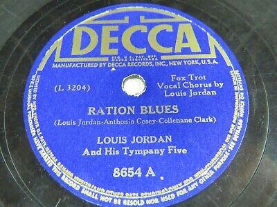 Louis Jordan Tympany Five Decca 8654 Ration Blues Deacon Jones Ebay