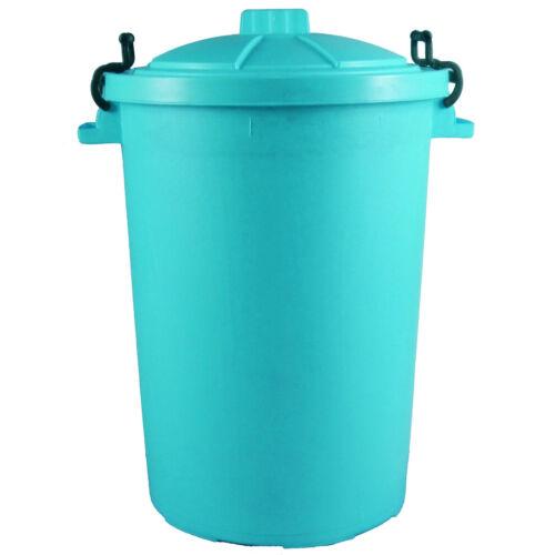 Large 80//85L Litre Plastic Bin Garden Rubbish Waste Dustbin Recycle Feed Storage