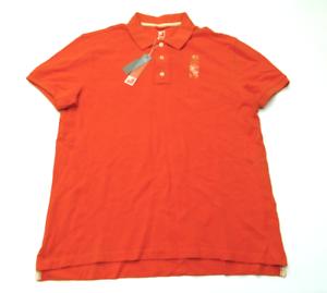 JCPenney-para-hombre-Talla-Mediana-Camisa-Polo-de-malla-de-color-naranja-NUEVO