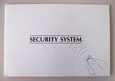 1994 94 1995 95 1996 96 JAGUAR XJS XJ-S XJ SECURITY SYSTEM OWNERS MANUAL NEW