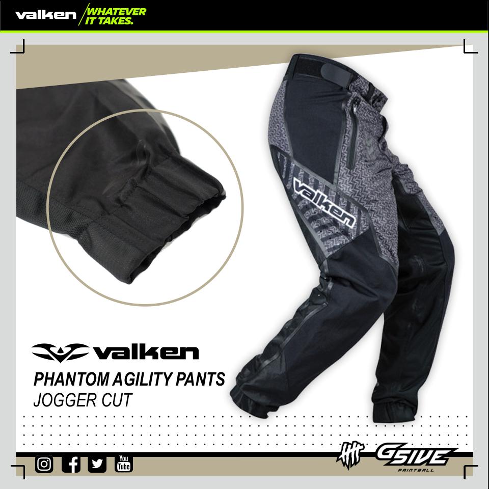 VALKEN Phantom Agility Pants Paintball Hose JOGGER Gr. L L L NEU schwarz aa2457