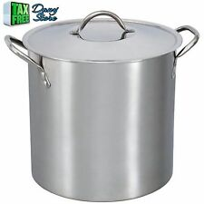 12 Qt Stainless Steel Stock Pot Steamer With Lid, Great For Mother's Cooking NEW