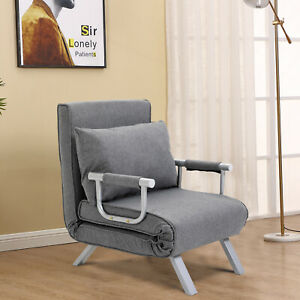HOMCOM-Convertible-Sleeper-Chair-Folding-Sofa-Bed