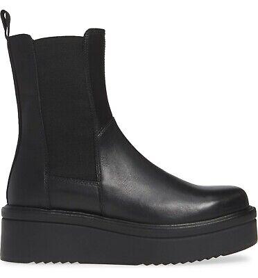 Vagabond Tara Black Leather Mid-Calf