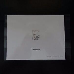 EPREUVE-BLOC-GOMME-PREOBLITERE-N-228-MUSIQUE-TROMPETTE-1993-NON-DENTELE-IMPERF