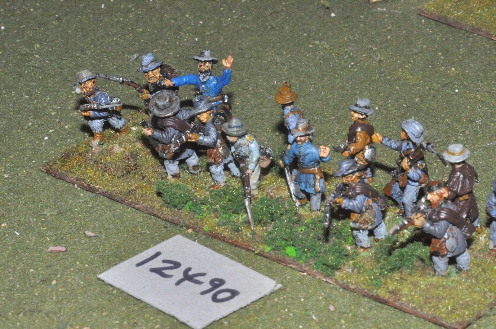 25mm ACW   confederate - american civil war infantry 14 figures - inf (12490)