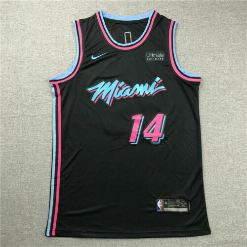 Tyler Herro #14 Miami Heat Basketball Jersey Stitched Black City Edition