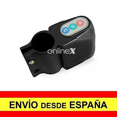 Candado Alarma Antirrobo con mando para BICICLETA Moto Sonora d16