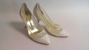 dc9692d3cc61 Freya Rose Wedding Evening Shoes - Rita - Ivory Chantilly Lace - UK ...