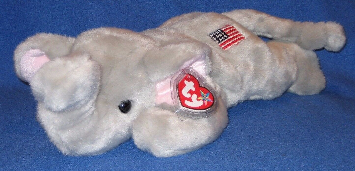 7f7dc2801a7 Ty Beanie Buddy Elephant Named Righty 3rd Generation MINT Year 2000 ...