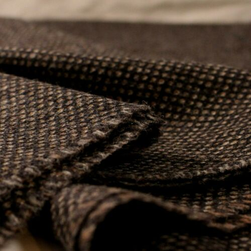 Small Batch 100/% Wool UK Made Tweed Fabric Cloth *£26.50 Per Metre* Not Harris