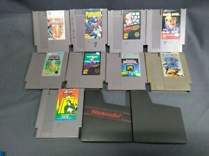 Lot-Of-9-Nintendo-NES-Games-Super-C-PunchOut-Tecmo-Super-Bowl-Ikari-Mario-Bros