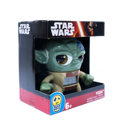 BulbBotz 2020022 Star Wars Yoda Wecker / Uhr mit Leuchtfunktion 23cm. NEU / OVP