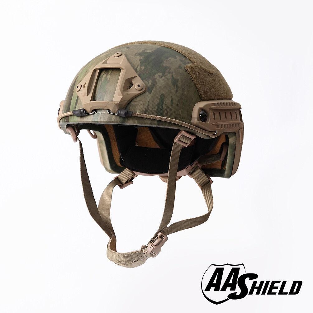 AA Shield Bulletproof ACH High Cut Tactical Helmet Aramid Safety IIIA A-TACS-FG