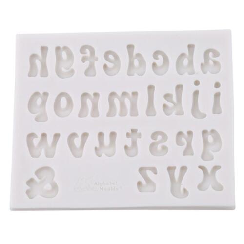 Big LETTER Moulds Silicone Alphabet /& Number Cake Mold Fondant Baking L