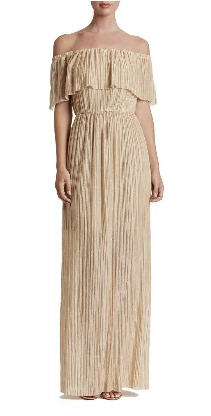 DRESS THE POPULATION ATHENA OFF THE SHOULDER PLEATED DRESS DRESS DRESS sz M 9bb8cb