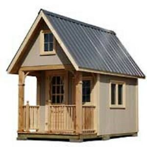 Details about Cottage Bunkie / Tiny House Plans ~ FREE Shipping