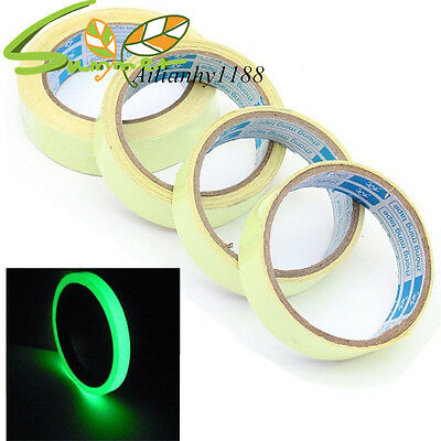 Luminous Fluorescent Non Slip Night Glow Adhesive Warning Tape Green Signal ahy