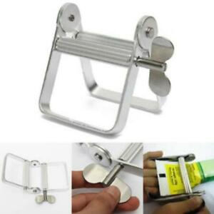 US Toothpaste Squeezer Dispenser Metal Paint Tube Wringer Hand Roller Tool//Large