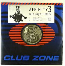 """12"""" Maxi - Affinity 3 - Late Night Letter - A3212 - washed & cleaned"""
