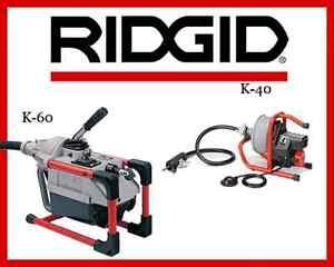 ridgid k 40 sink machine (71722) \u0026amp; ridgid k 60 sectional machineimage is loading ridgid k 40 sink machine 71722 amp ridgid
