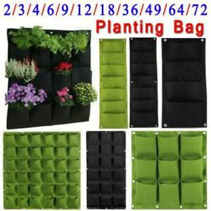 3-72-Pocket-Wall-Hanging-Planting-Bag-Vertical-Flower-Grow-Pouch-Planter-Garden