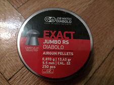 JSB Exact Jumbo RS Diabolo Pellet 250 pcs Cal.:.22 (5.52mm) Best Price on Ebay