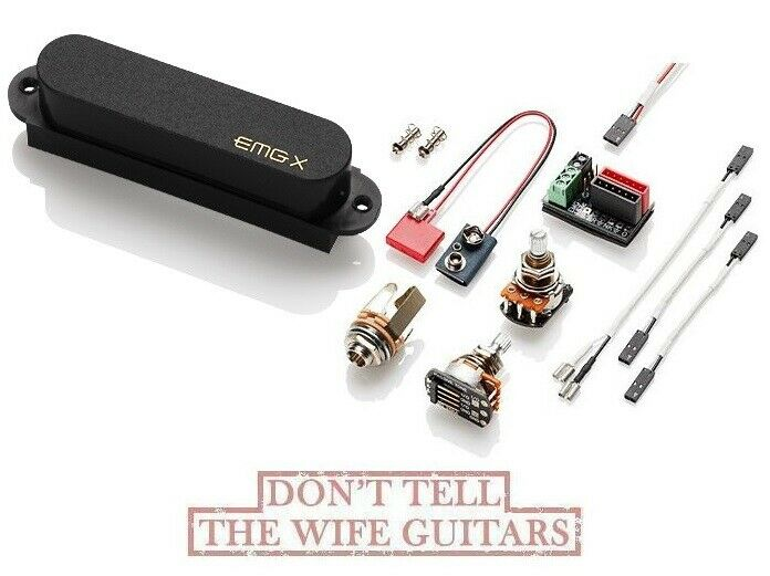 EMG FTX schwarz SINGLE COIL TELE NECK PICKUP FENDER TELECASTER REPLACEMENT & WIRES