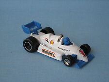 Matchbox F-1 Racer Race Car White Body Chrome Roll Bar Toy Model Car 70mm UB