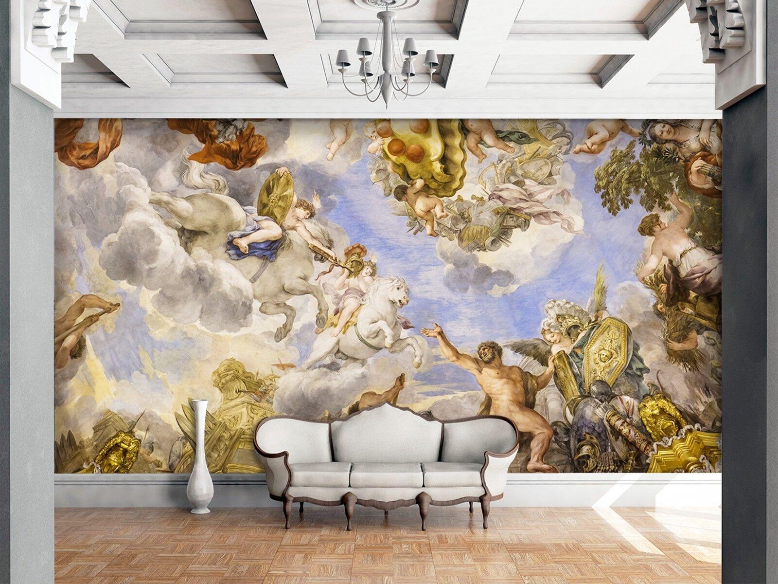 3D Buddhist Church Angel 2 Wallpaper Mural Print Wall Indoor Wallpaper Murals UK