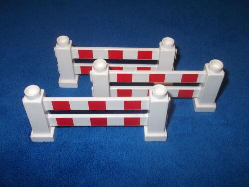 LEGO DUPLO chantier Blanc blanc rouge 3 x clôture des clôtures Dick enclos barrière