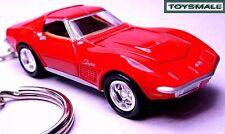 KEY CHAIN 69/1968/1969/1970 RED CHEVY CORVETTE STINGRAY C3 NEW CUSTOM KEY RING R