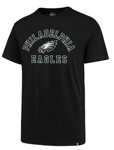 Philadelphia-Eagles-Men-039-s-47-Brand-NFL-Short-Sleeve-T-Shirt-Black-S-M-XXL