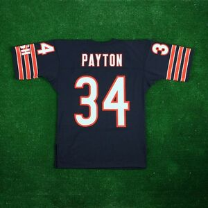 8de1aa5be WALTER PAYTON 1985 Chicago Bears MITCHELL   NESS Authentic Home Navy ...