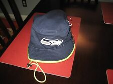 MENS NFL NEW ERA SEATTLE SEAHAWKS NAVY/LIME GREEN  Bucket Hat L LARGE  NWT