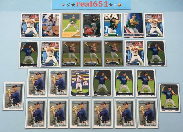 2010~2012 ANDRELTON SIMMONS Rookie Lot x 28 RC | Bowman 1st Topps Chrome Angels