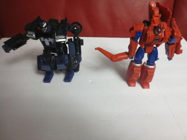 Hasbro Transformers Crossover Venom and Spiderman used