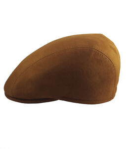 Handmade-100-Argentine-Suede-Leather-Cap