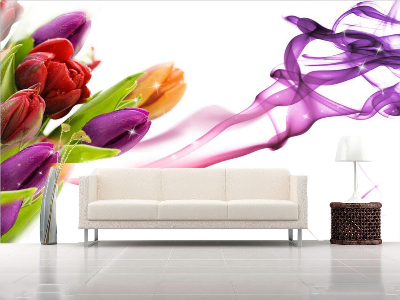 3D tulipano 4656 Parete Murale Foto Carta da parati immagine sfondo muro stampa