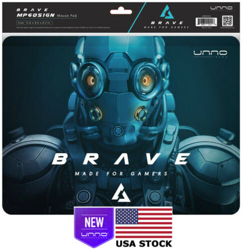 UNNO TEKNO BRAVE LARGE MOUSE PAD FOR GAMING RETAIL USA NEW