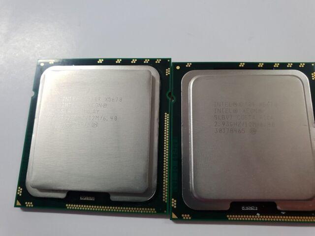 MATCHING PAIR  Intel Xeon X5670 2.93GHz 12M Cache SIX Core CPU LGA1366 SLBV7