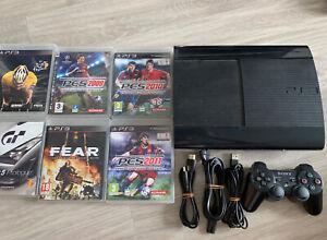 Console Sony Playstation 3 PS3 Ultra Slim 500go + Manette Et Cables Et 6 Jeux