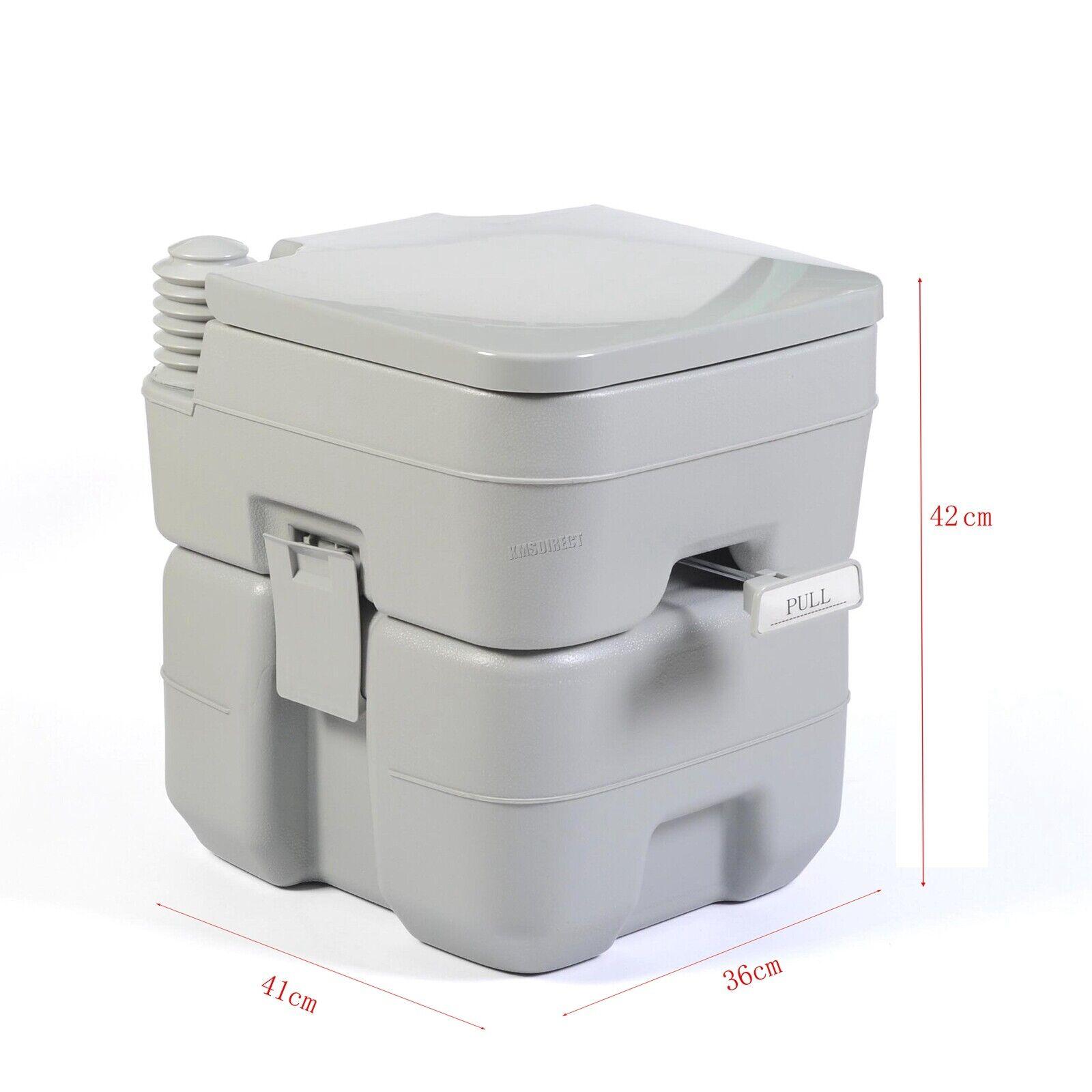 FoxHunter 20L Portable Toilet Flush Caravan Camping Travel WC Loo Porta Potty 11