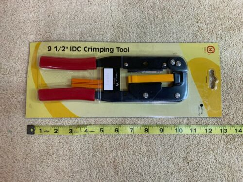"IDC FLAT CABLE CONNECTOR 91//2/"" CRIMPING TOOL HT-214 /& HT-214D HANLONG TOOLS"