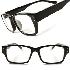 Stylish-Fashion-Stylish-Smart-Geeky-Rectangle-Mens-Womens-Clear-Lens-Eye-Glasses