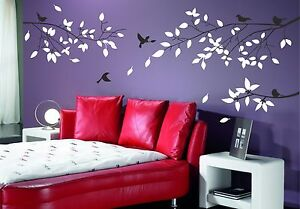 Details About Tree Branch Two Colour Wall Art Stickers Living Room Decoration Decal Transfer