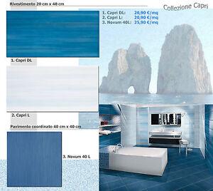 Piastrelle bagno bianco azzurro turchese blu cucina 20x40 40x40 pavimento ebay - Livellatori per piastrelle ...